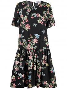 платье со сборками и цветочным принтом VIVETTA 165799215252
