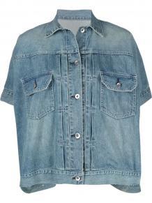 джинсовая куртка с короткими рукавами SACAI 1663603049