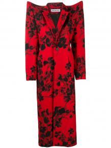 пальто с цветочным принтом Balenciaga 156598805154