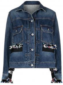 джинсовая куртка с необработанными краями SACAI 1631058550