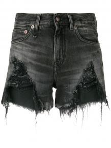 джинсовые шорты с эффектом потертости R13 136660085055