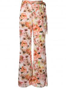 брюки широкого кроя с цветочным принтом Patrizia Pepe 163558455248