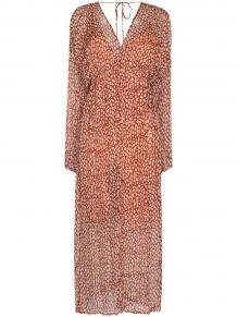 платье с разрезом и принтом CLOE CASSANDRO 1556408283