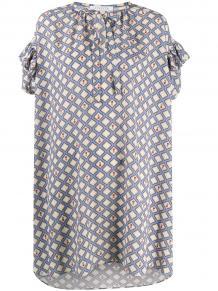 платье с геометричным принтом и оборками VIVETTA 155611875156