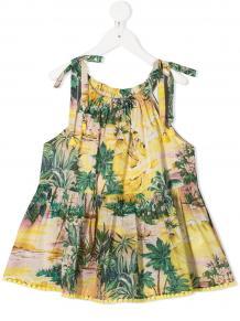 платье без рукавов с принтом Zimmermann Kids 156442525432636363