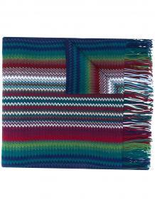 шарф в стиле колор-блок с бахромой Missoni 15660791636363633263