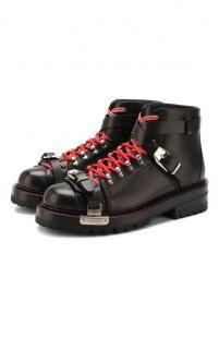 Кожаные ботинки Versace 10510102