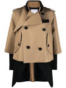 многослойная двубортная куртка SACAI 1647597352