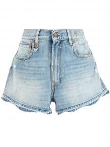 джинсовые шорты с эффектом потертости R13 165682745055