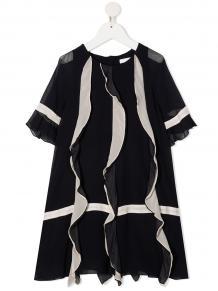шифоновое платье с оборками Chloé Kids 162570924952