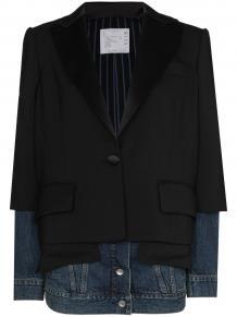 panelled single-breasted blazer SACAI 1604475950