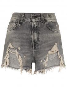 джинсовые шорты с необработанными прорванными краями R13 131755435054