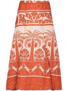 юбка миди Palm To Nadube со складками Johanna Ortiz 1512867556