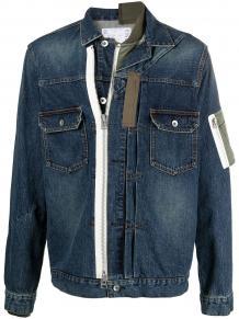 джинсовая куртка со вставками SACAI 1638291951