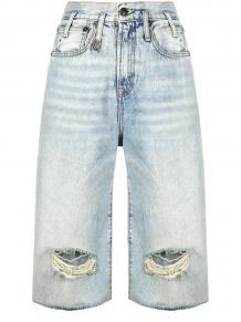 джинсовые шорты с прорезями R13 151603515053