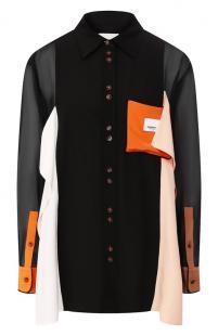 Шелковая рубашка Burberry 10728798