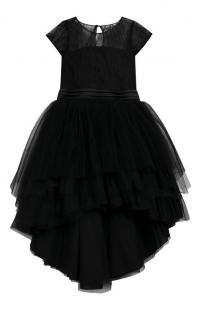 Платье асимметричного кроя с поясом Aletta 7492246