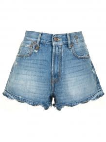 джинсовые шорты с эффектом потертости R13 166051655053