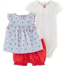 Комплект Carters: блузка, боди и шорты Carter`s 14213941