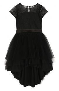 Платье асимметричного кроя с поясом Aletta 7492281