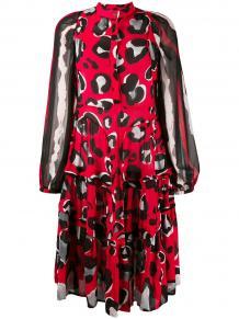 расклешенное платье с леопардовым принтом Cavalli Class 144166765248