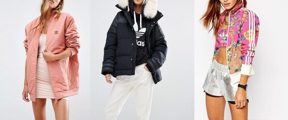 Женские куртки Adidas фото
