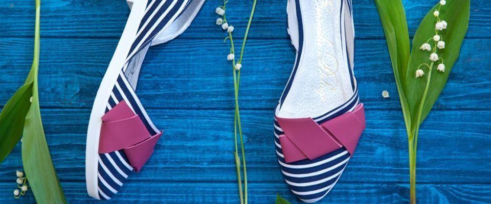 текстильные женские балетки фото