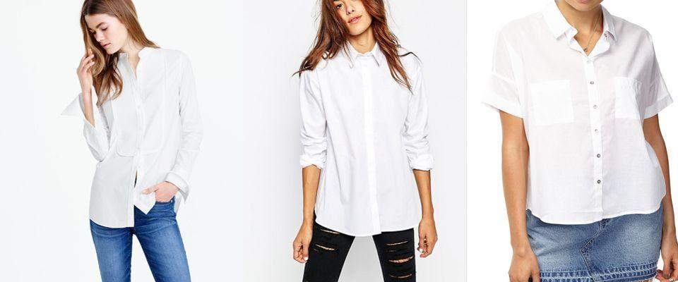 белые рубашки фото