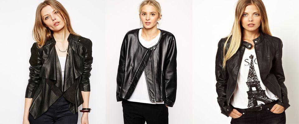 черные женские кожаные куртки фото