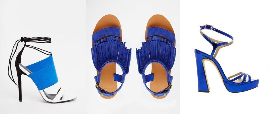 голубые женские босоножки фото