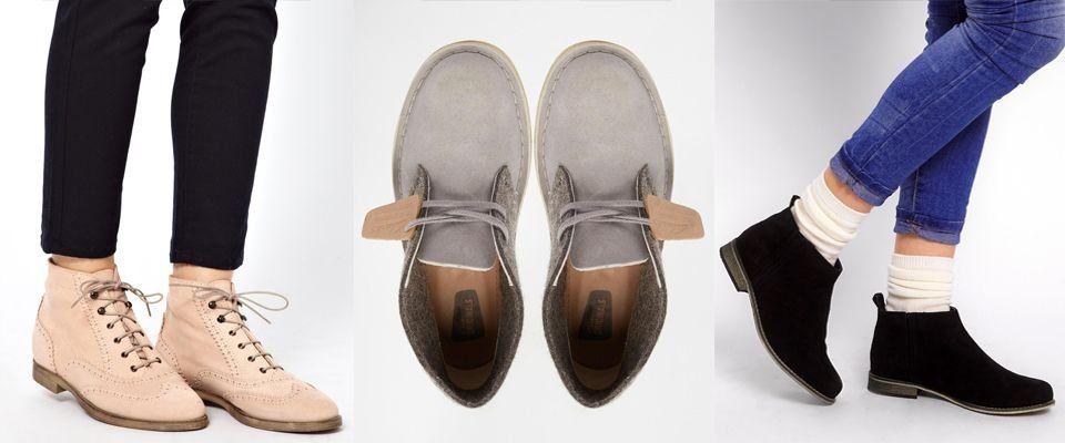 замшевые женские ботинки фото