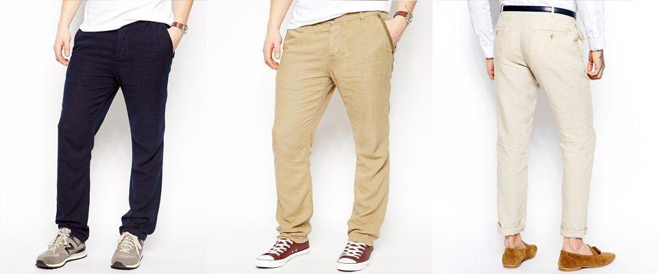 льняные мужские брюки фото
