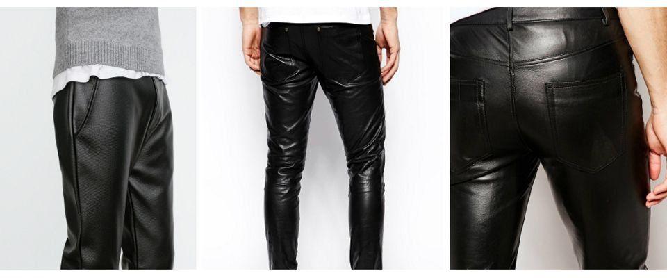 кожаные мужские брюки фото