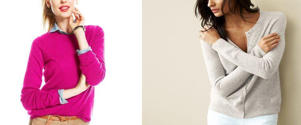 кашемировые женские кофты и свитеры фото