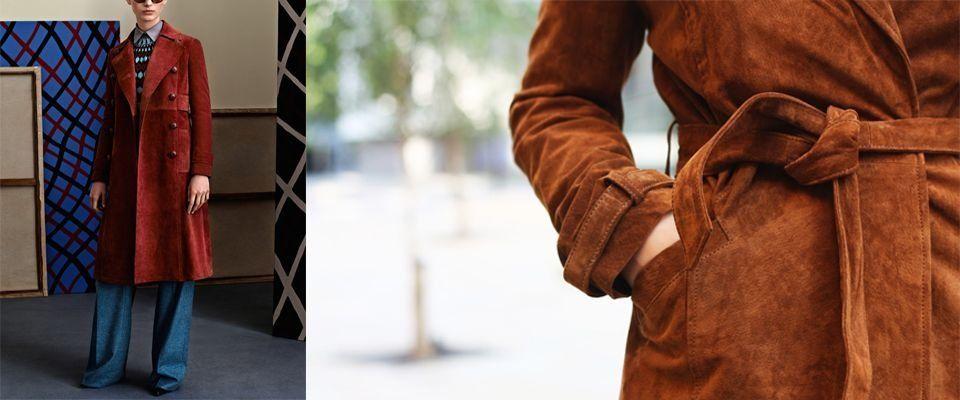 замшевые женские пальто фото
