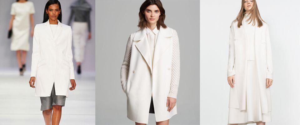 белые женские пальто фото