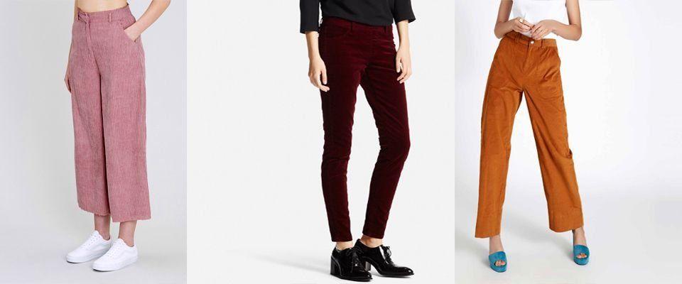 вельветовые женские брюки фото