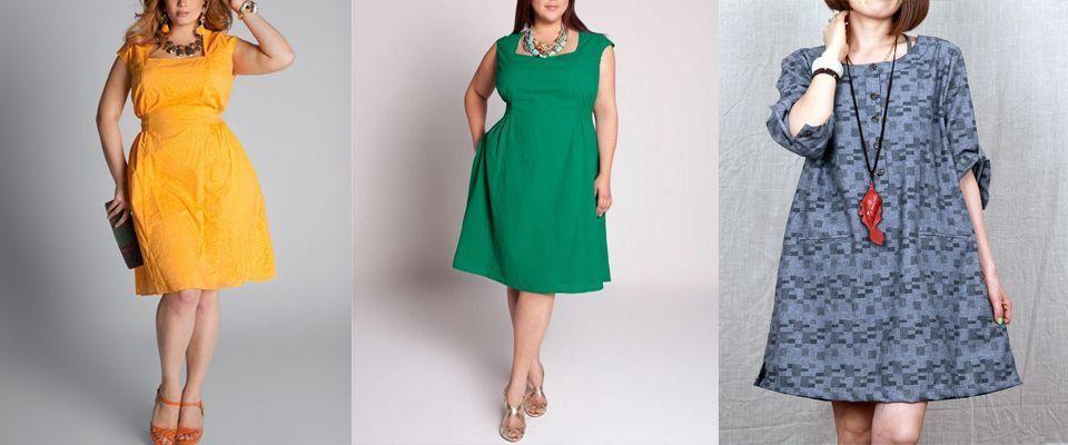 платья из хлопка больших размеров фото