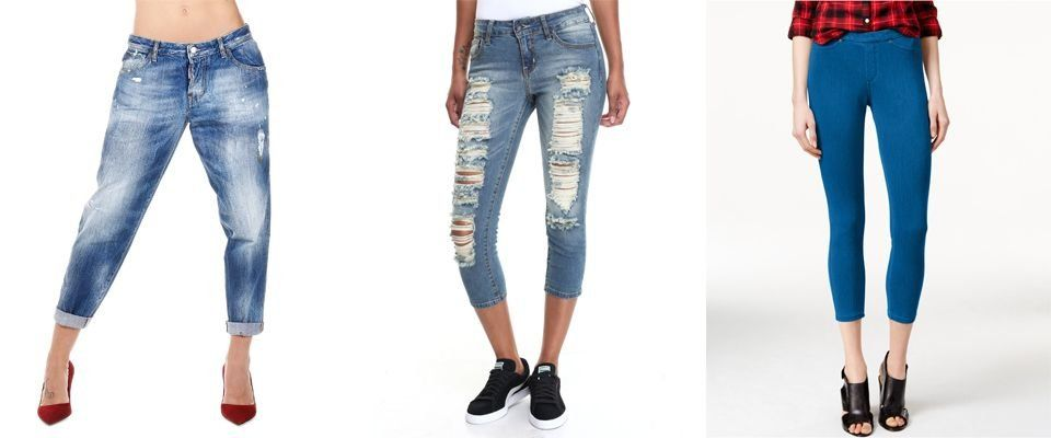 джинсовые капри фото
