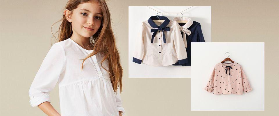 Детские блузы и рубашки для девочек фото
