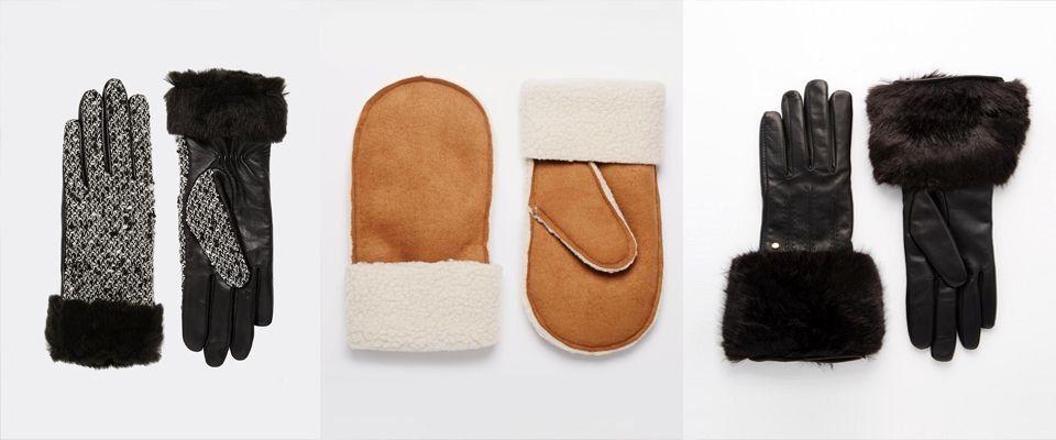 перчатки и варежки из меха фото