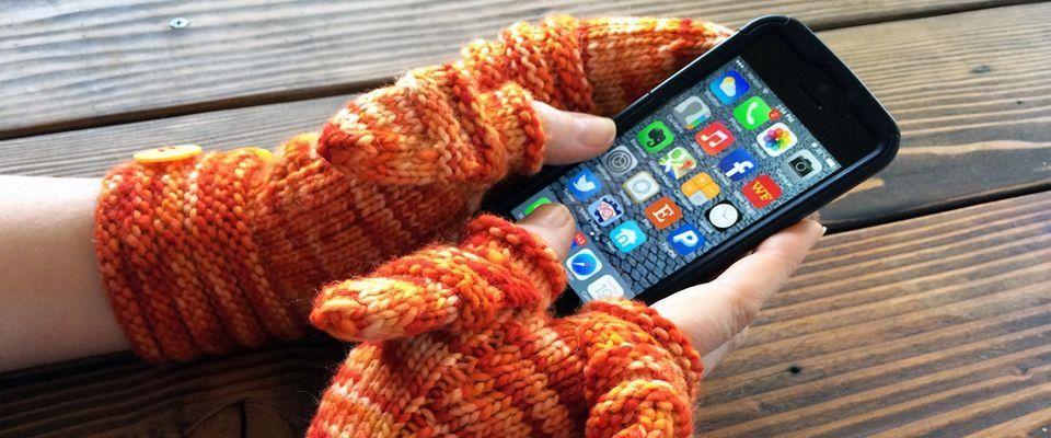 вязаные перчатки фото