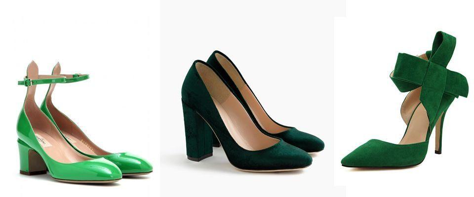 Купить зеленые женские туфли в интернете от 352 руб — заказать ... 8f93e0809b6