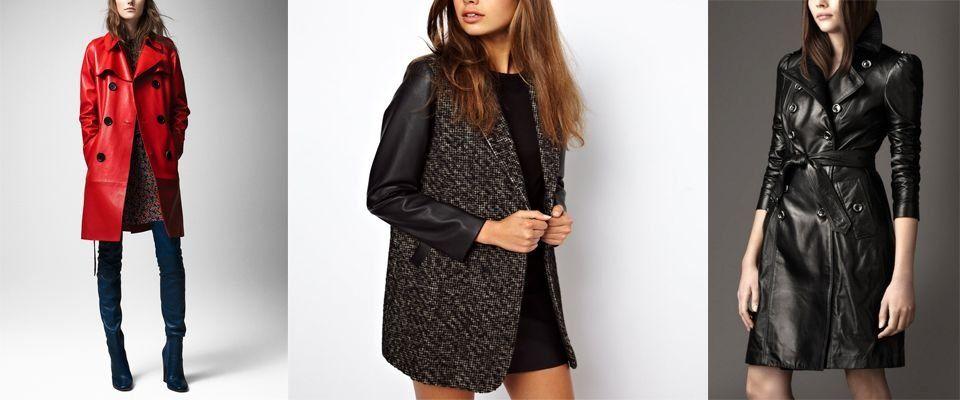 кожаные женские пальто фото