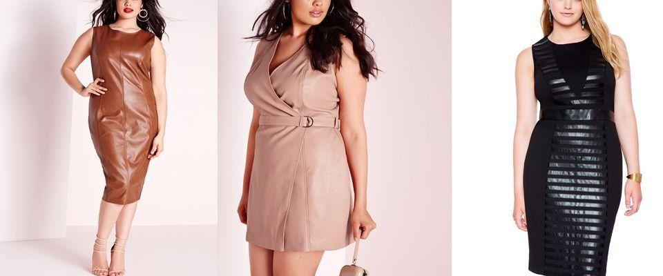 кожаные платья больших размеров фото