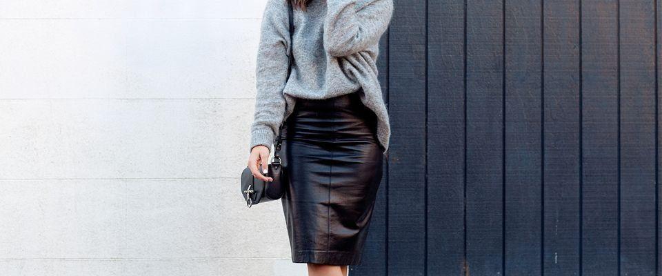 кожаные женские юбки фото