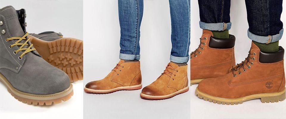 мужские ботинки из нубука фото