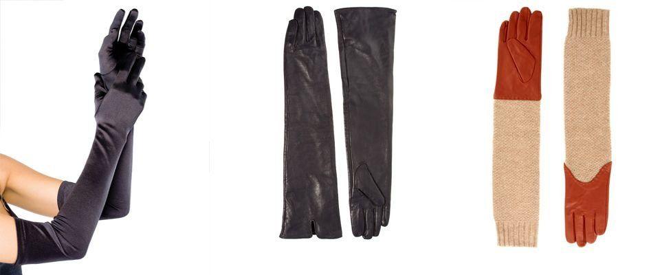 длинные перчатки фото
