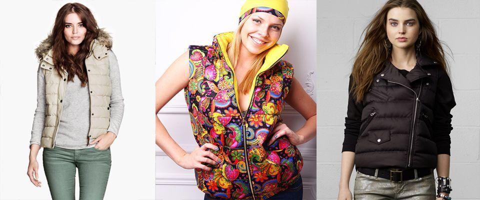 пуховые женские жилеты фото