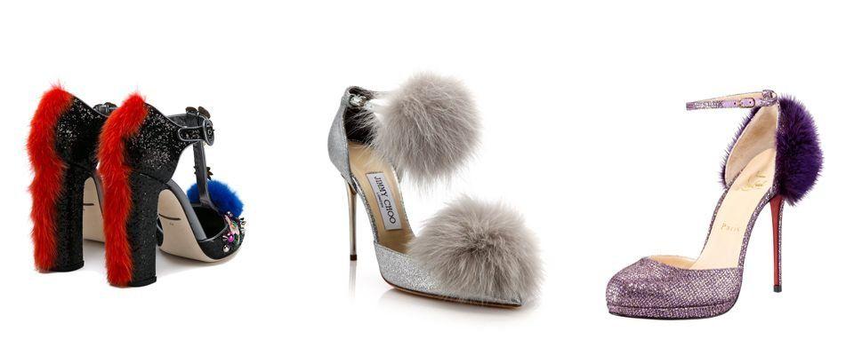 женские туфли с мехом фото